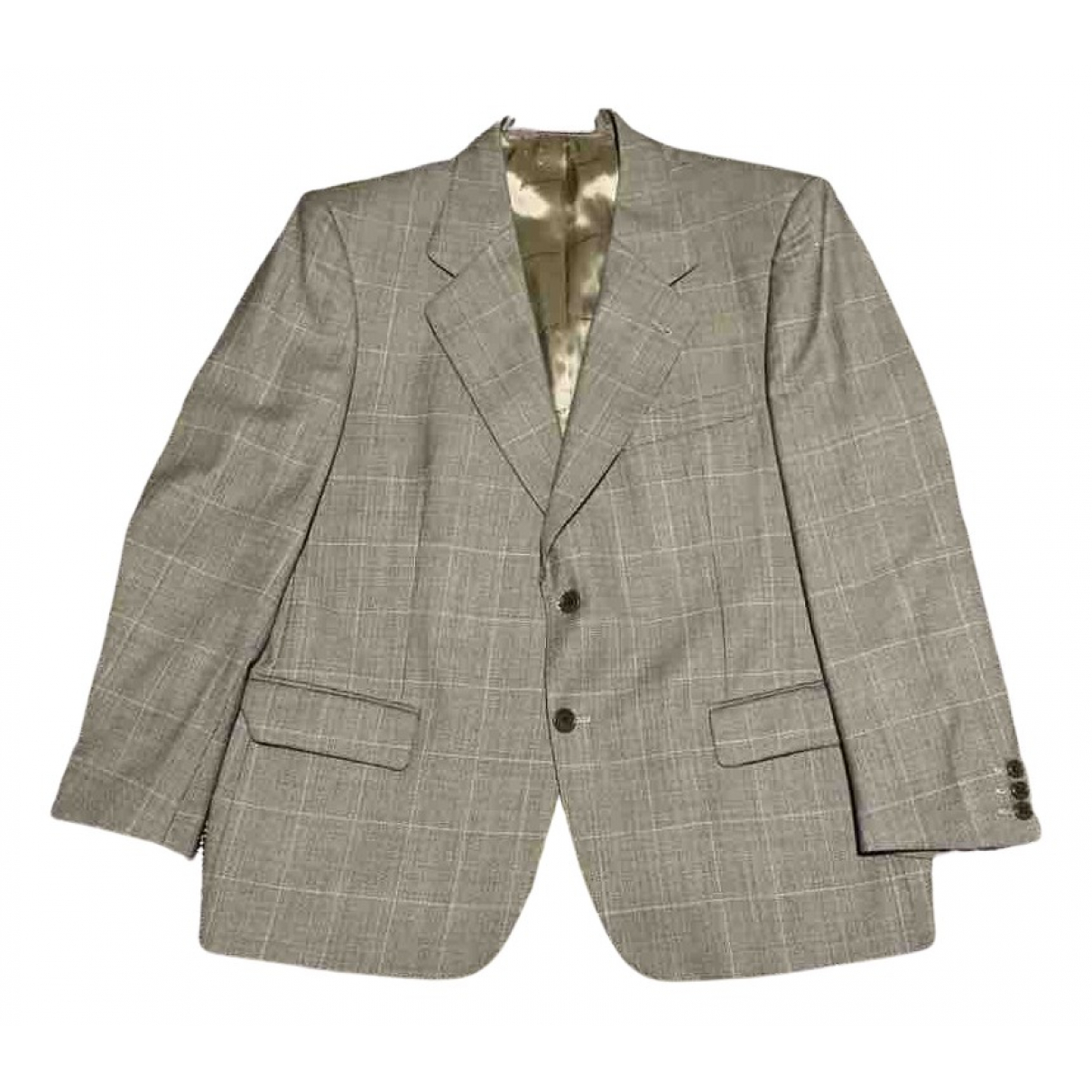 Non Signé / Unsigned N Grey Wool jacket  for Men 56 IT