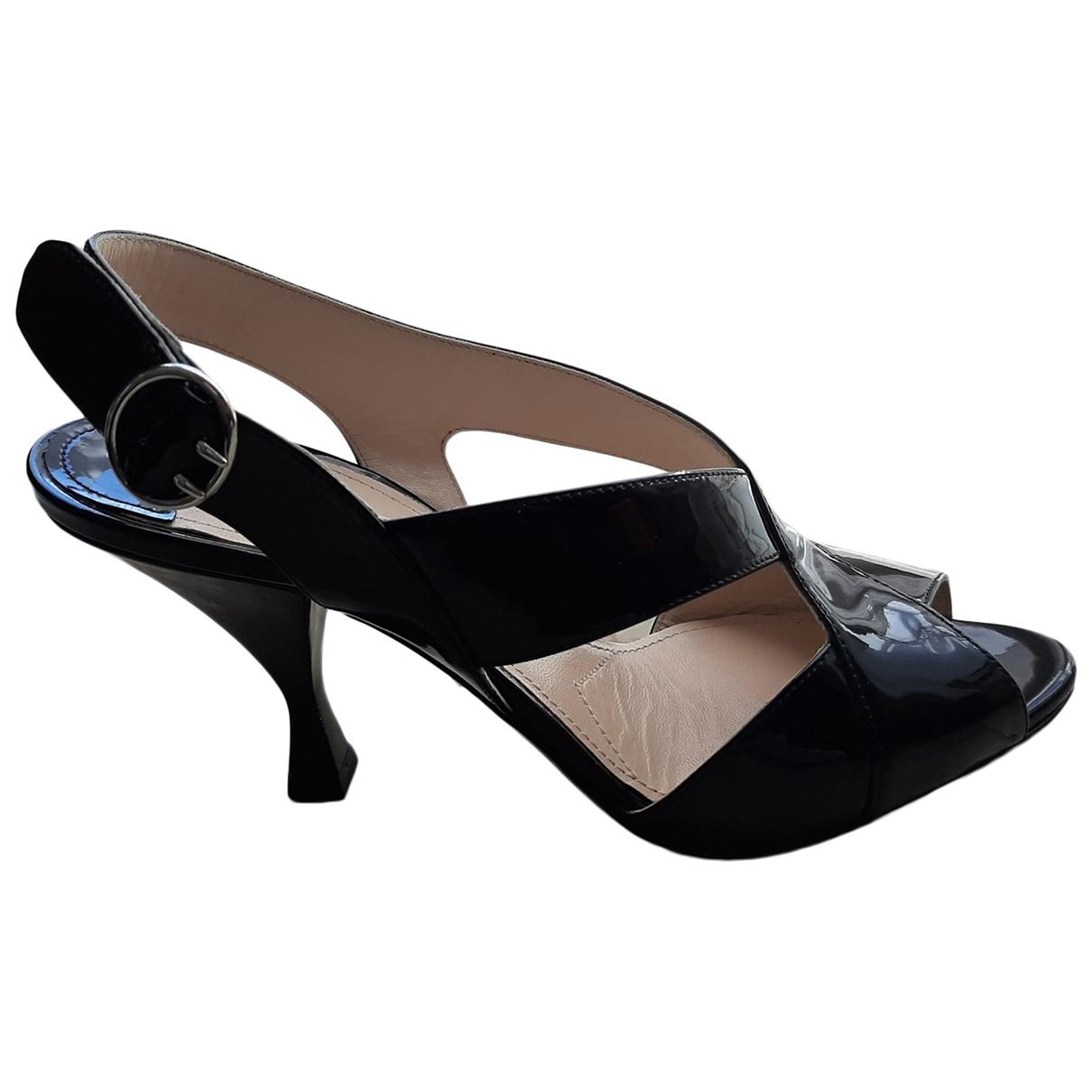 Prada \N Black Patent leather Sandals for Women 37 EU