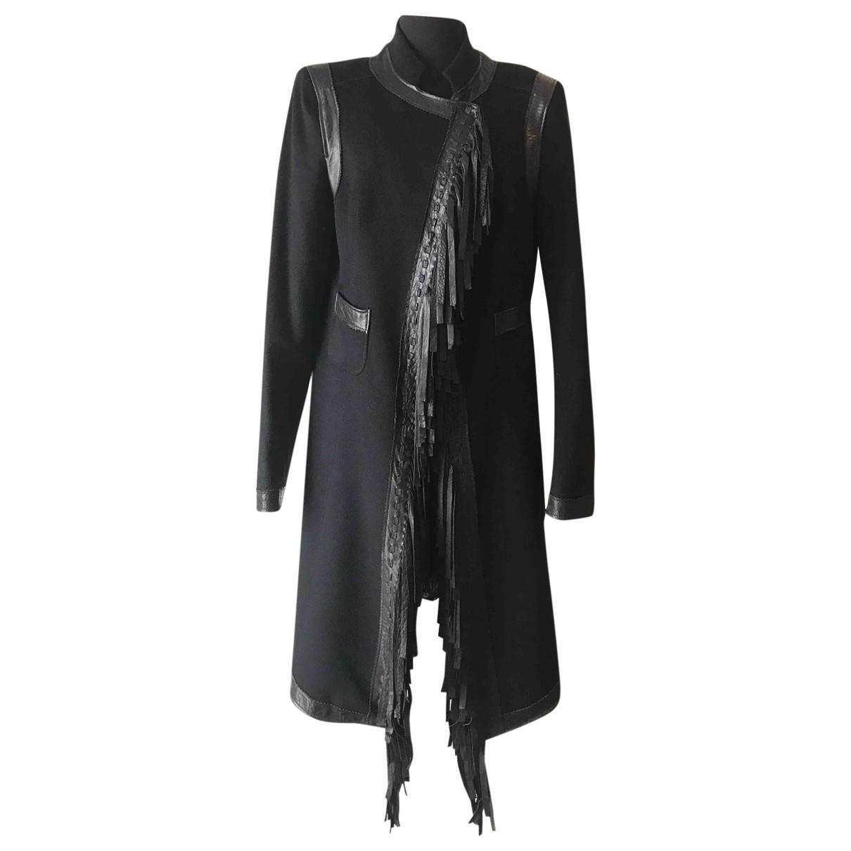 Roberto Cavalli N Black Wool coat for Women 48 IT