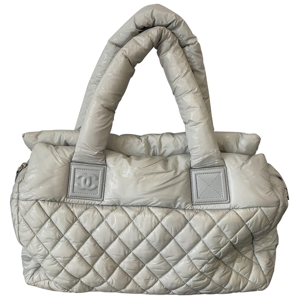 Chanel Coco Cocoon Handtasche in  Grau Polyester