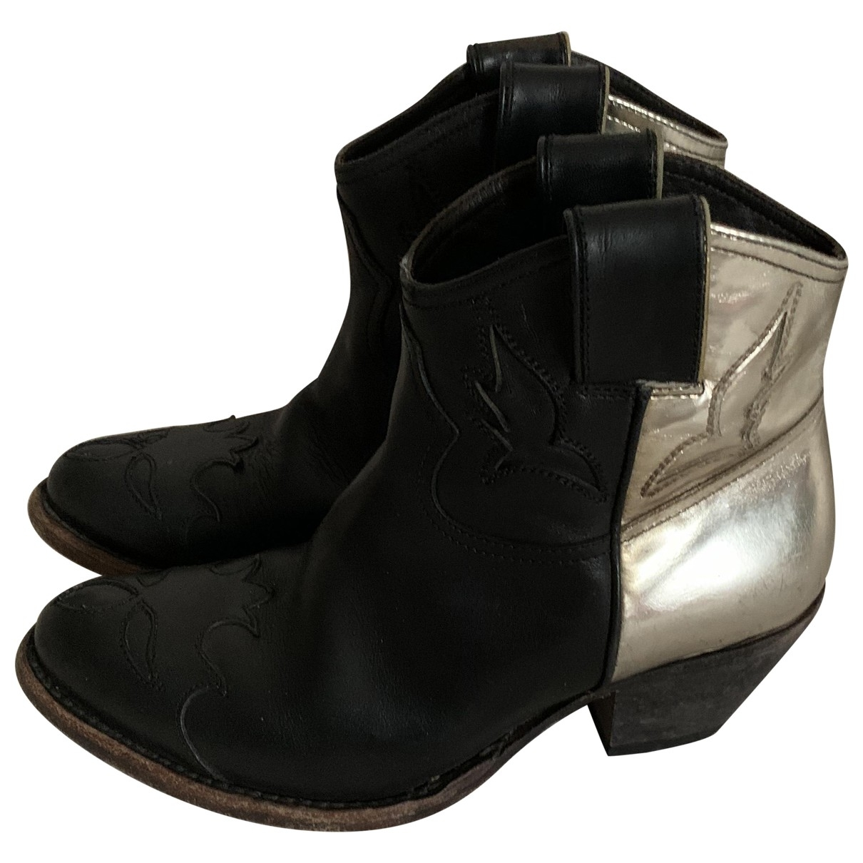 Golden Goose \N Black Leather Ankle boots for Women 36 EU