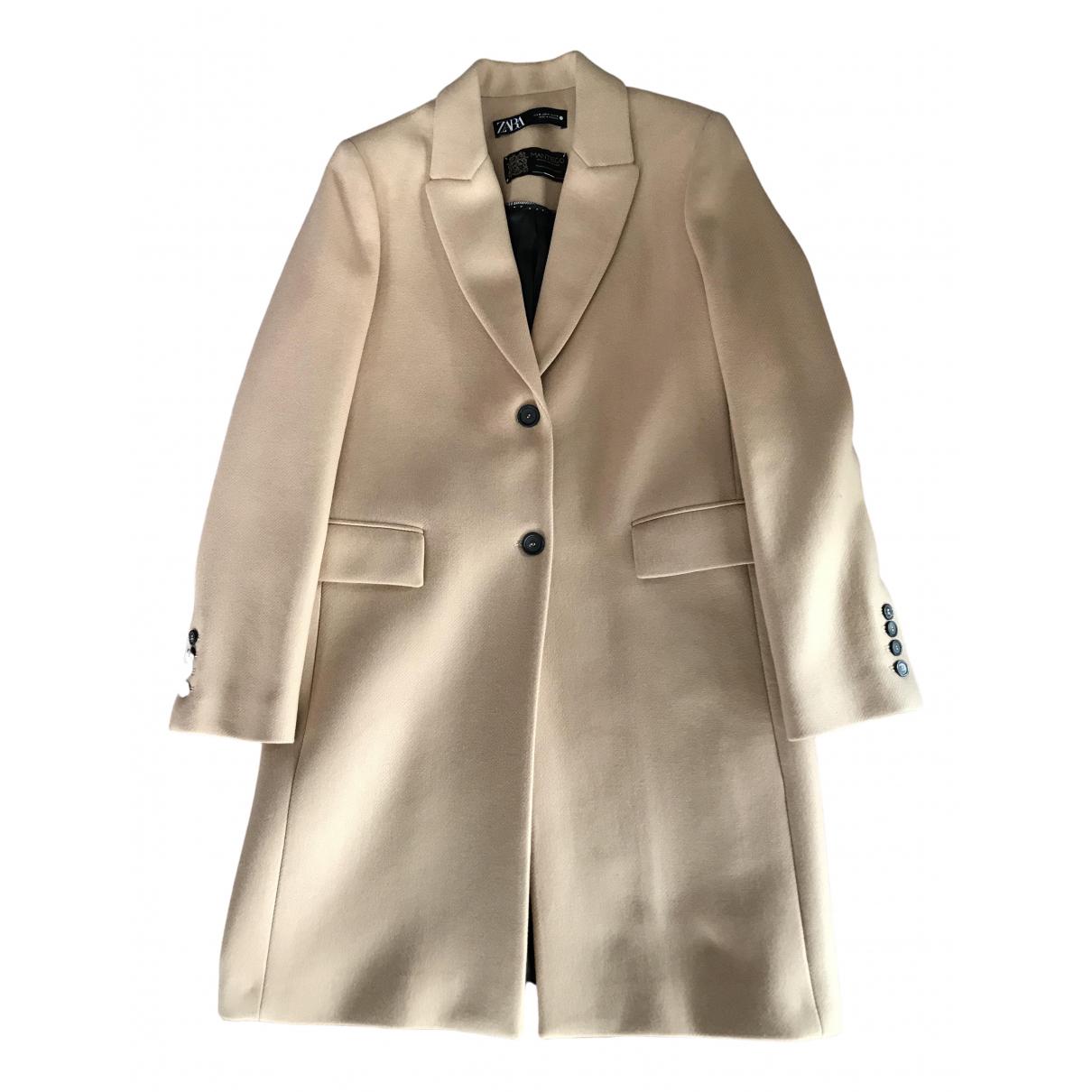 Zara \N Camel Wool coat for Women L International