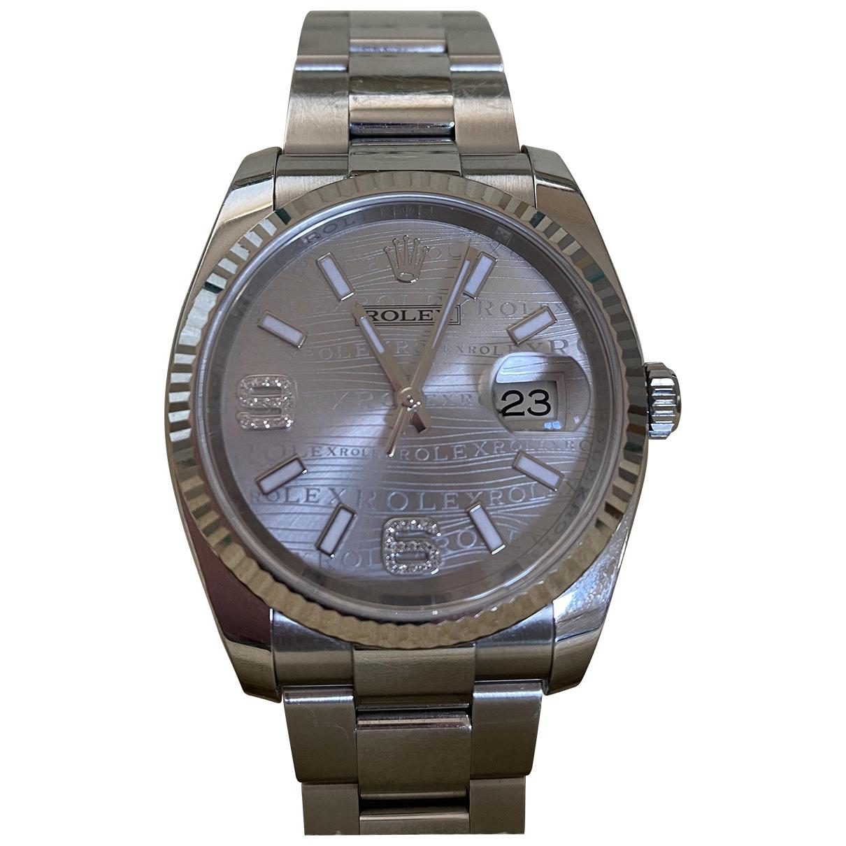 Rolex - Montre Oyster Perpetual 36mm pour femme en acier - argente