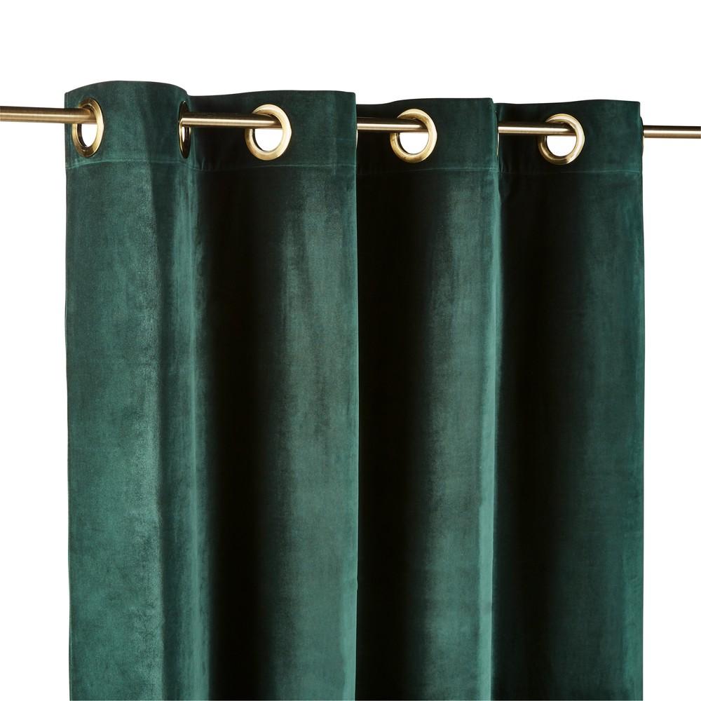 Osenvorhang aus smaragdgruenem Samt, 1 Vorhang 140x300
