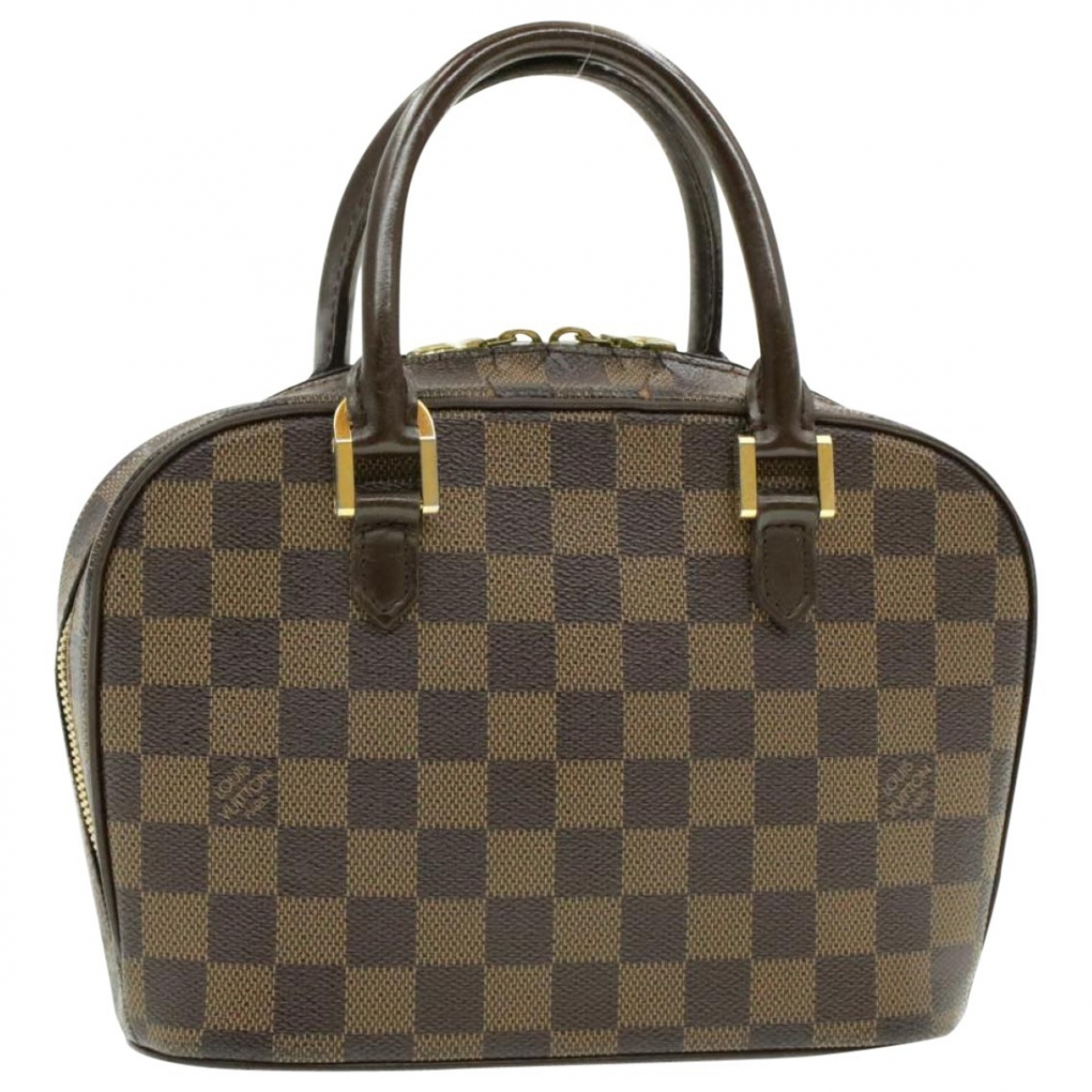 Louis Vuitton Sarria Handtasche in  Braun Leinen