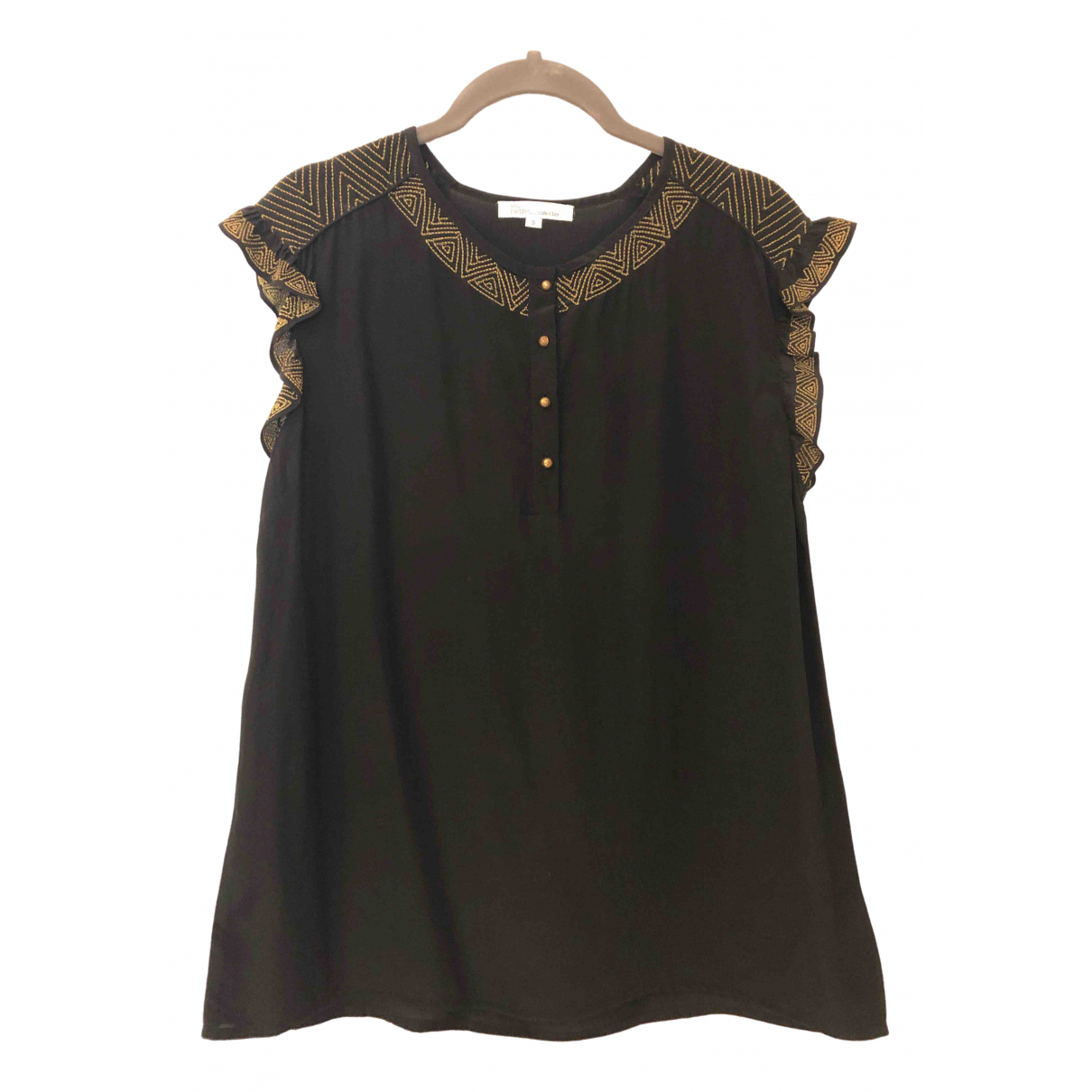 Les Petites \N Black Silk  top for Women S International
