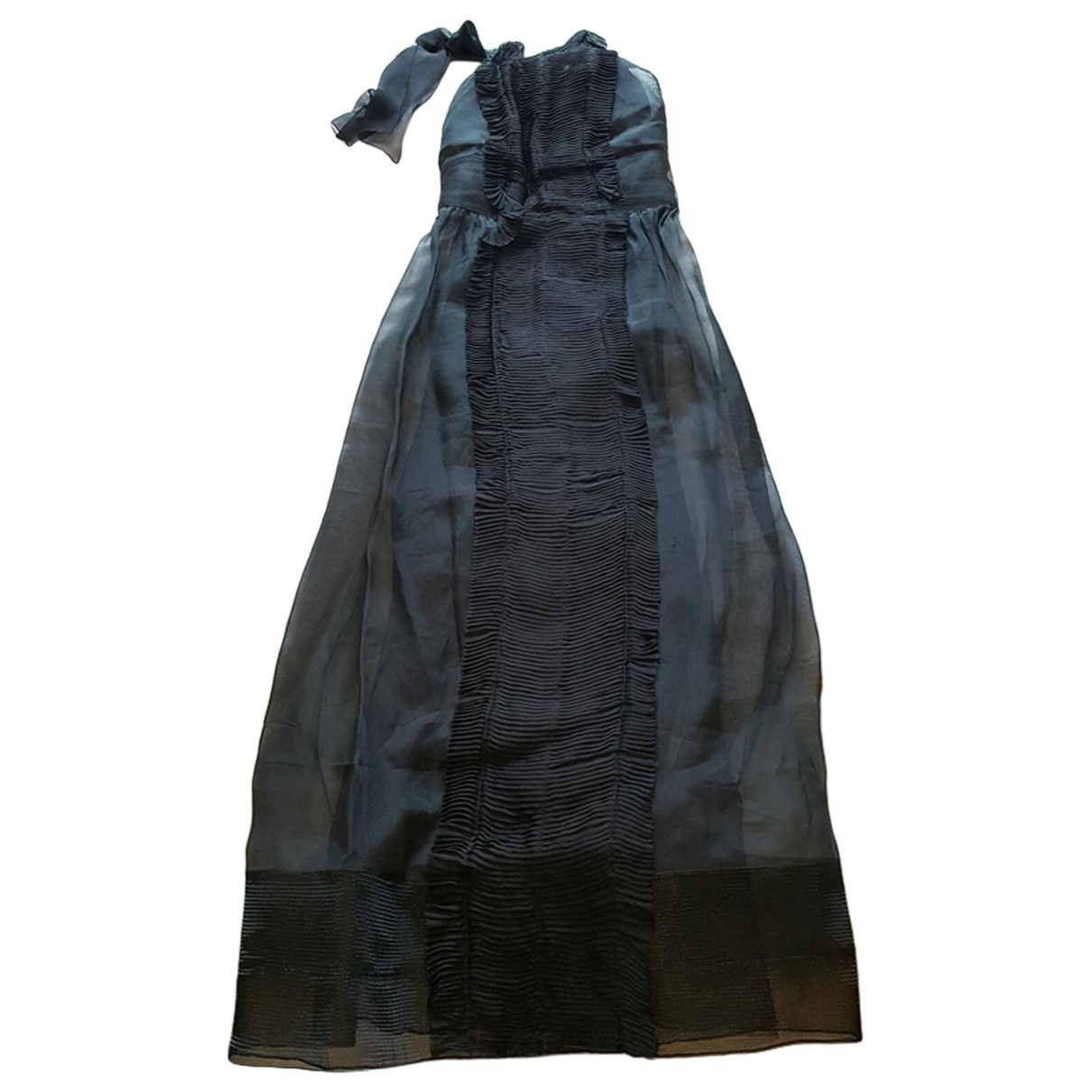 Alberta Ferretti \N Kleid in  Schwarz Seide
