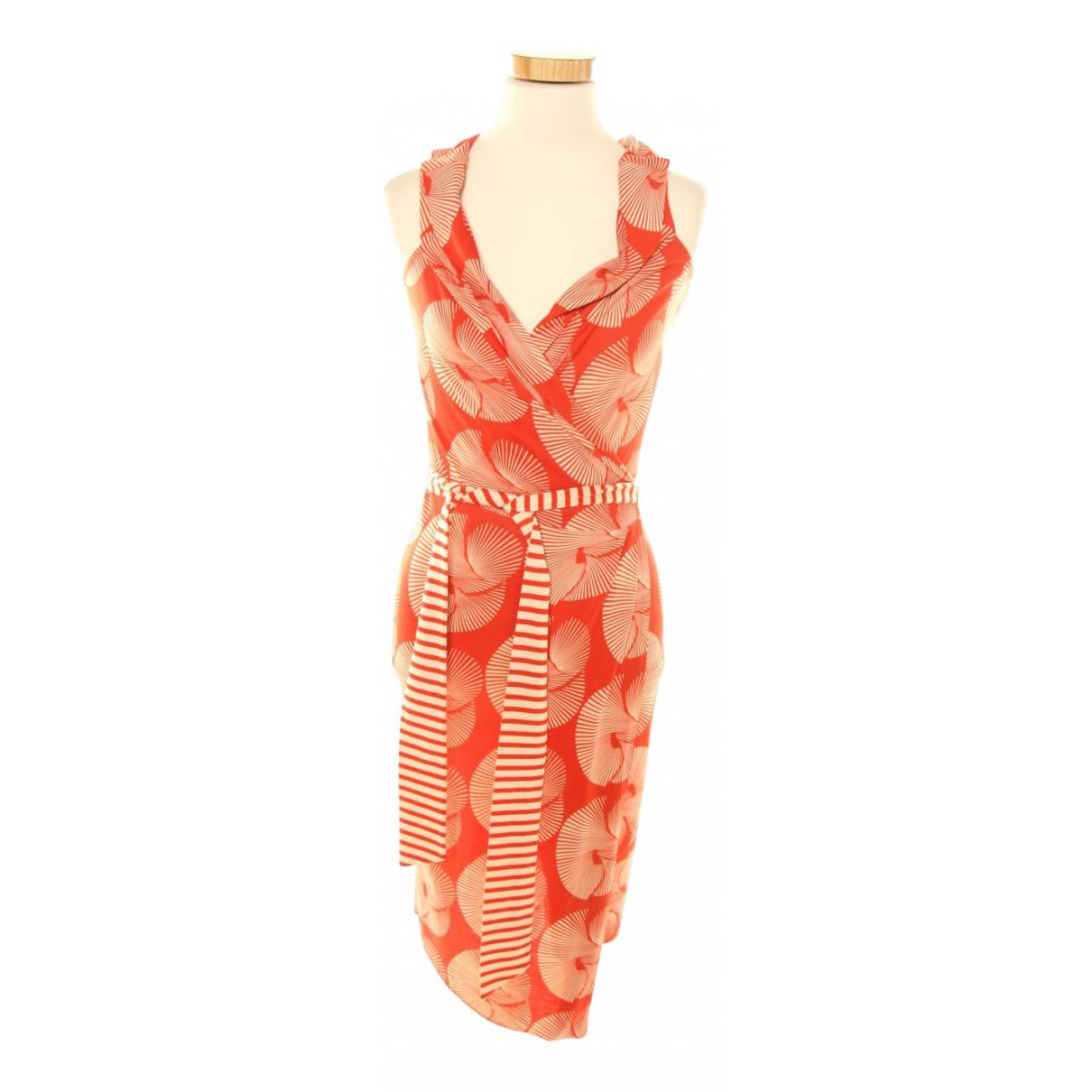 Diane Von Furstenberg - Robe   pour femme en soie - orange