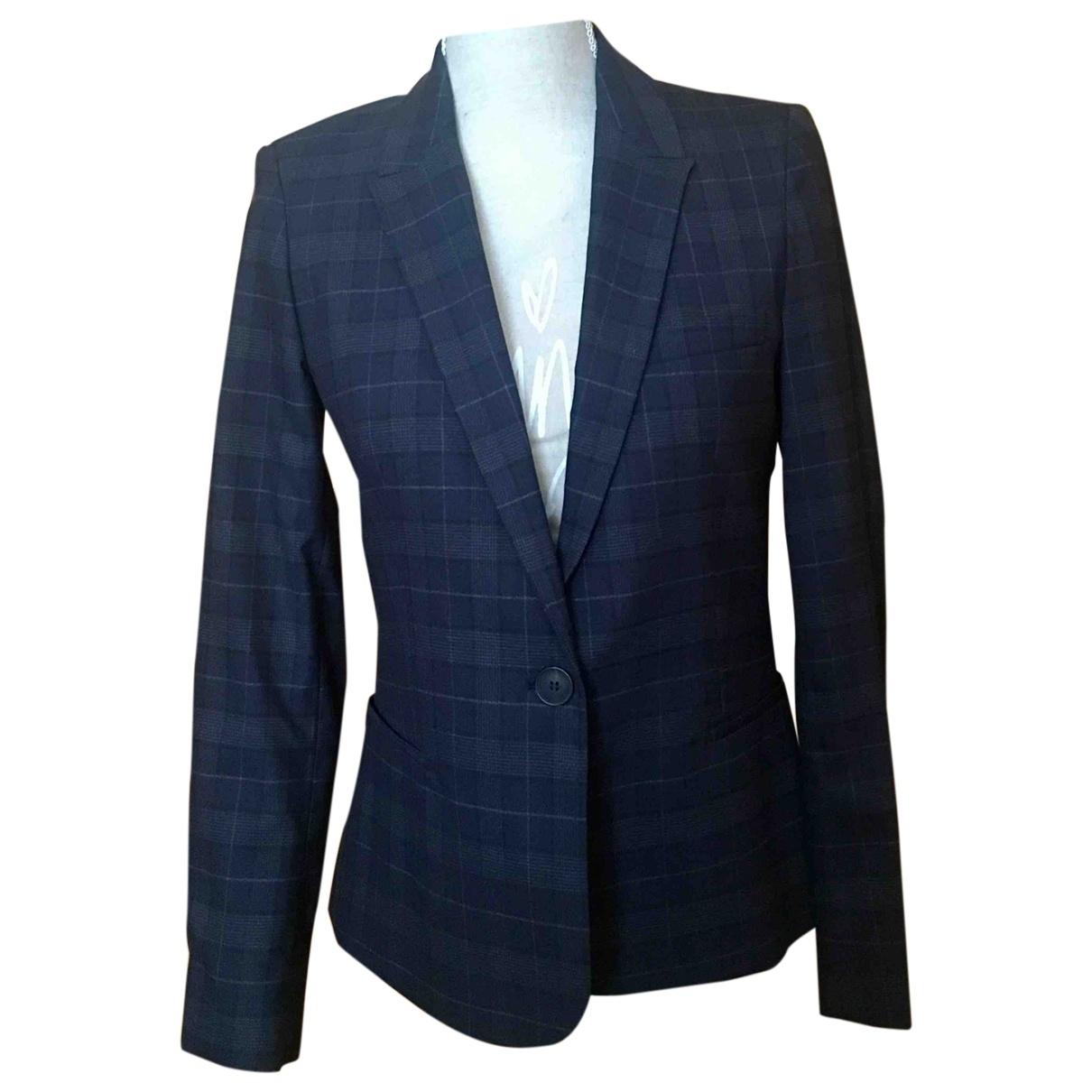 Zara \N Jacke in  Marine Polyester