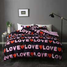 Set de cama con letra sin relleno