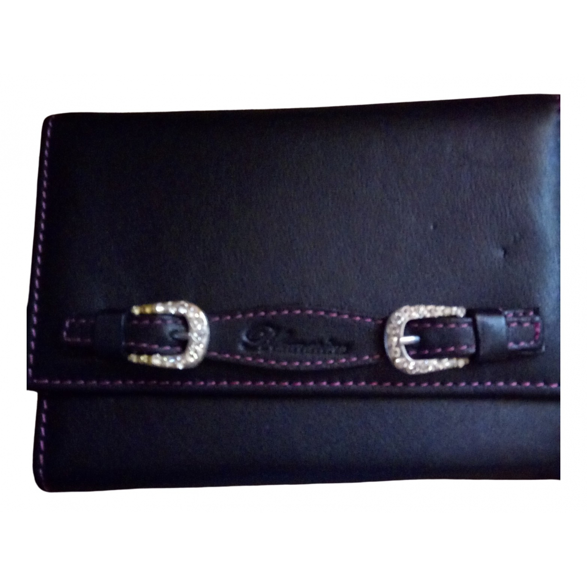Blumarine \N Black Leather wallet for Women \N