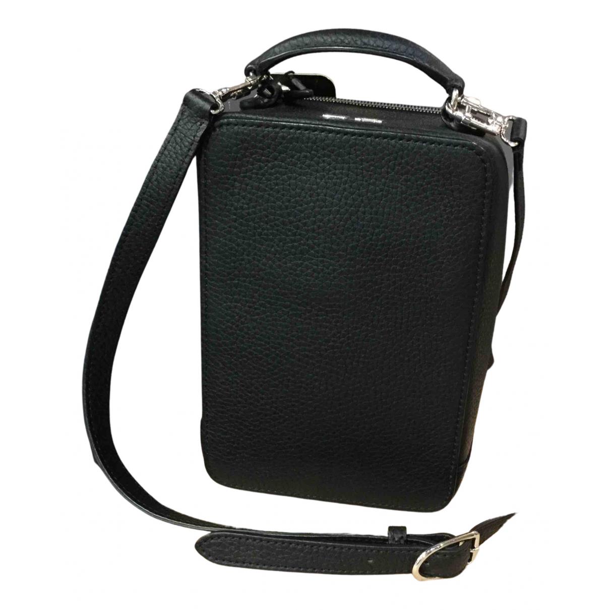 Sonia Rykiel Pave Handtasche in  Schwarz Leder