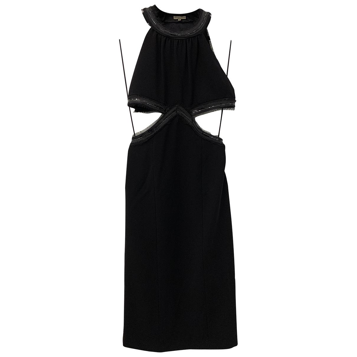 Bottega Veneta \N Kleid in  Schwarz Viskose