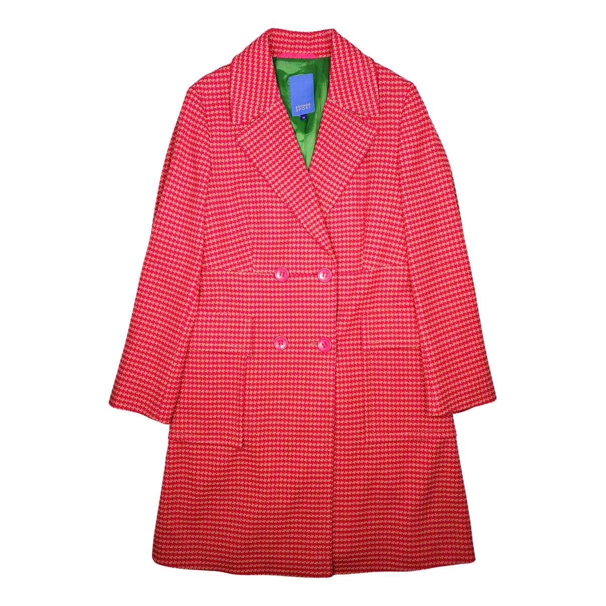 Escada - Manteau   pour femme en laine - multicolore