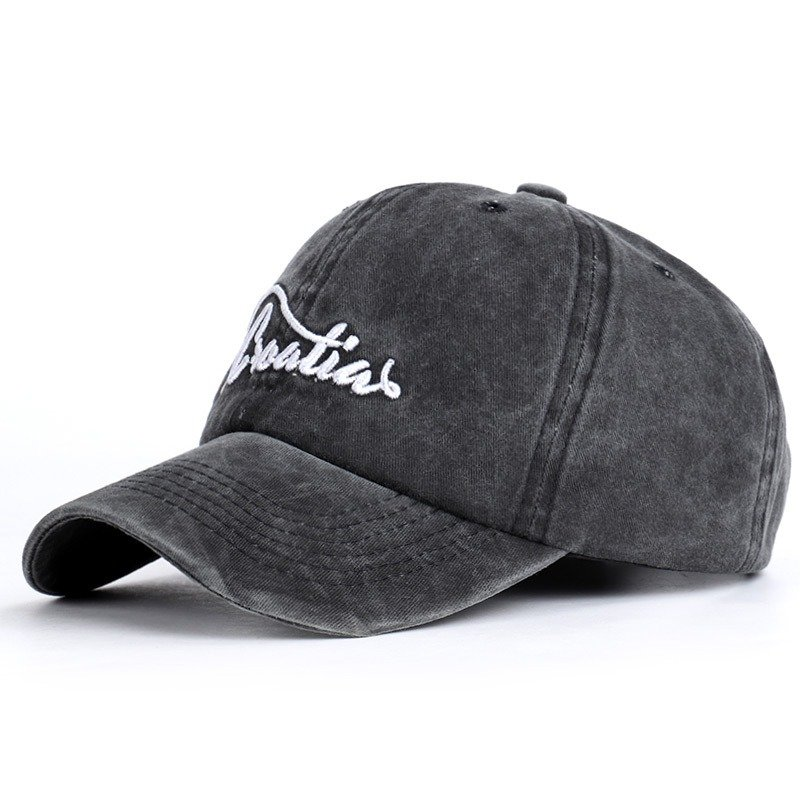 Men Vintage Adjustable Embroidery Washed Cotton Hat Outdoor Sports Climbing Sun Baseball Cap