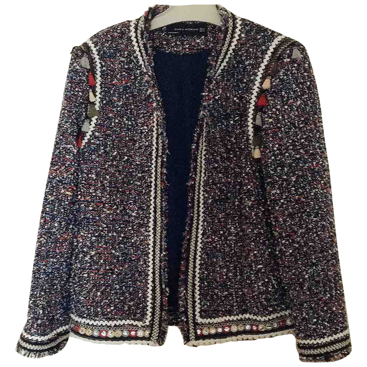 Zara \N Jacke in  Bunt Tweed