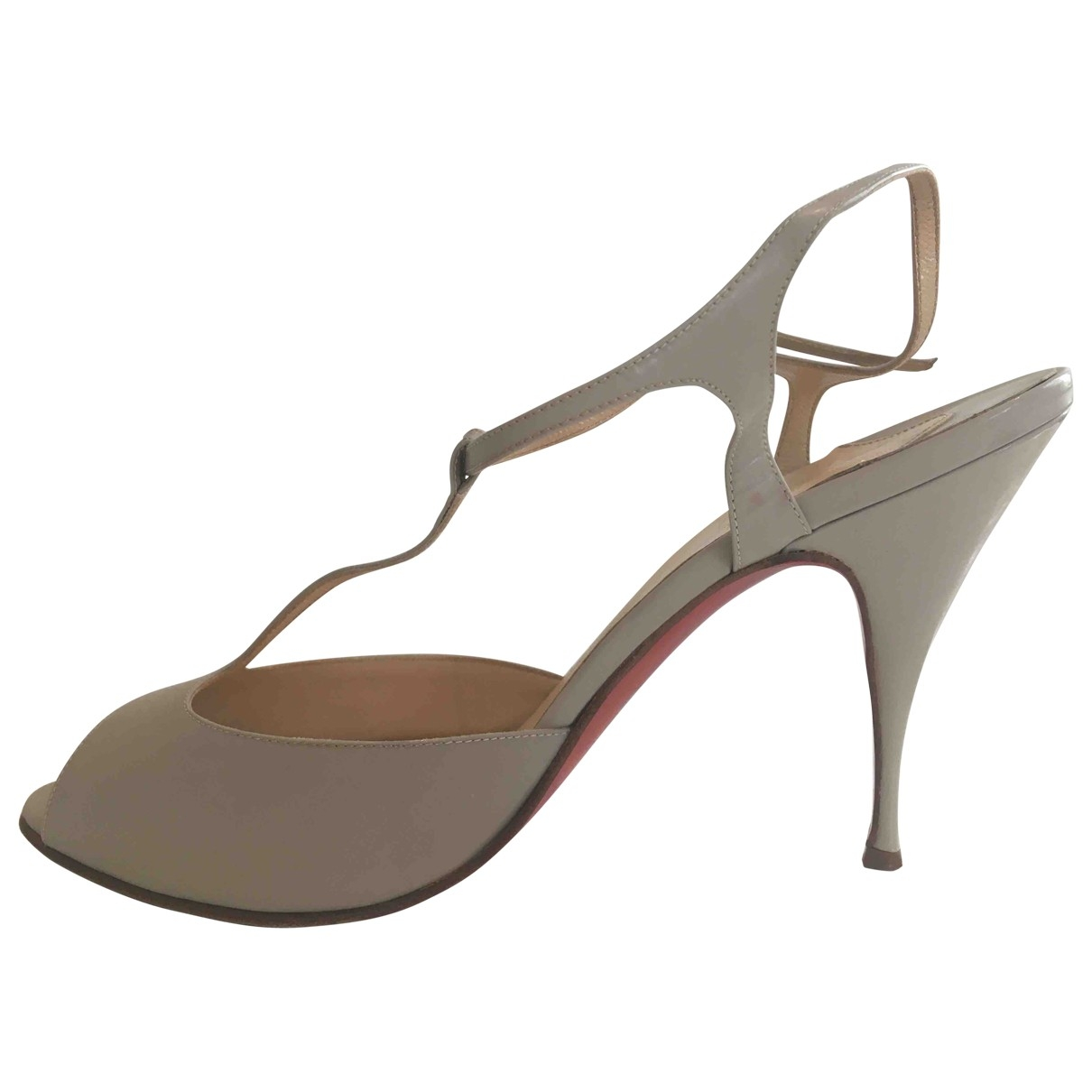 Christian Louboutin \N Grey Leather Sandals for Women 40 EU