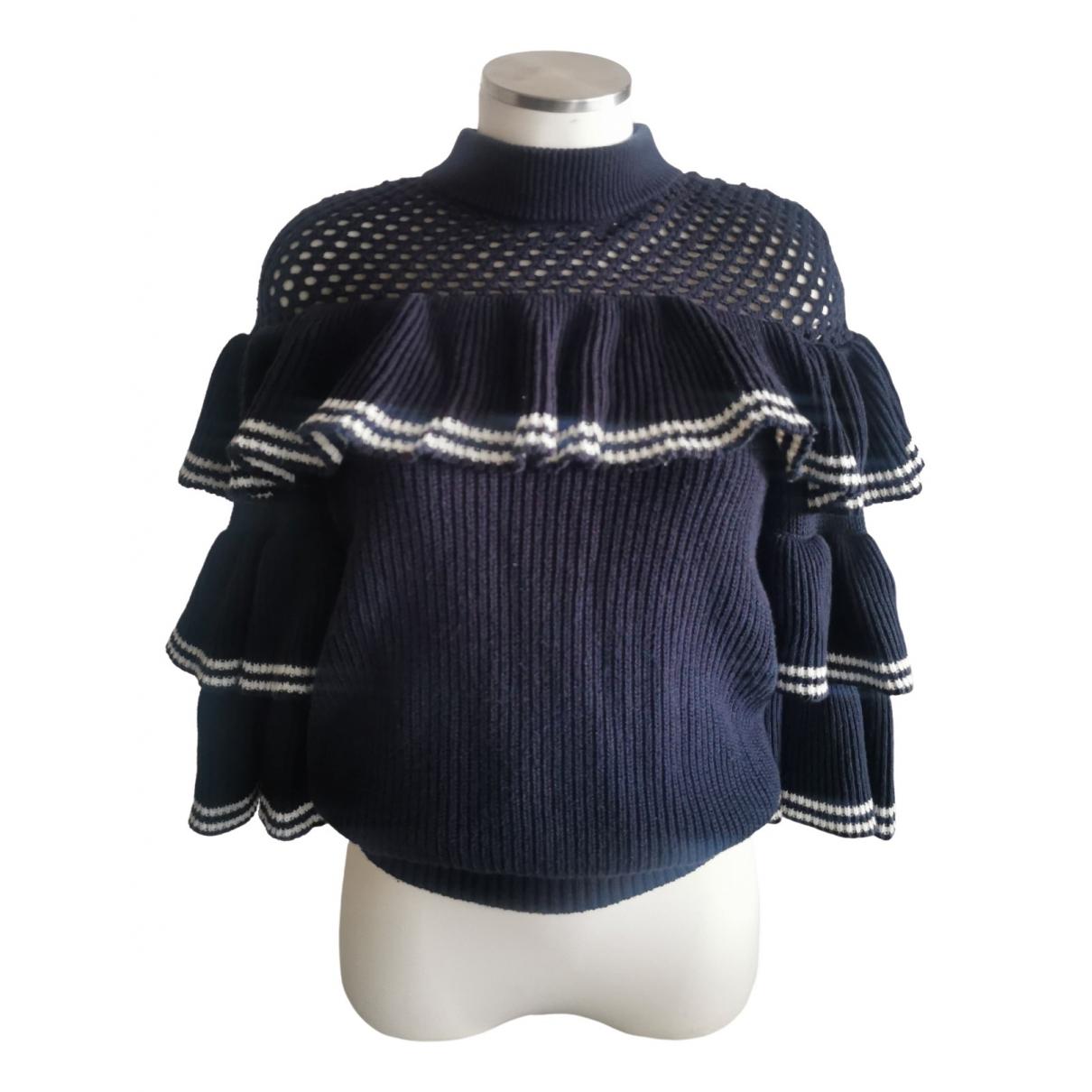 Self Portrait \N Navy Wool Knitwear for Women S International