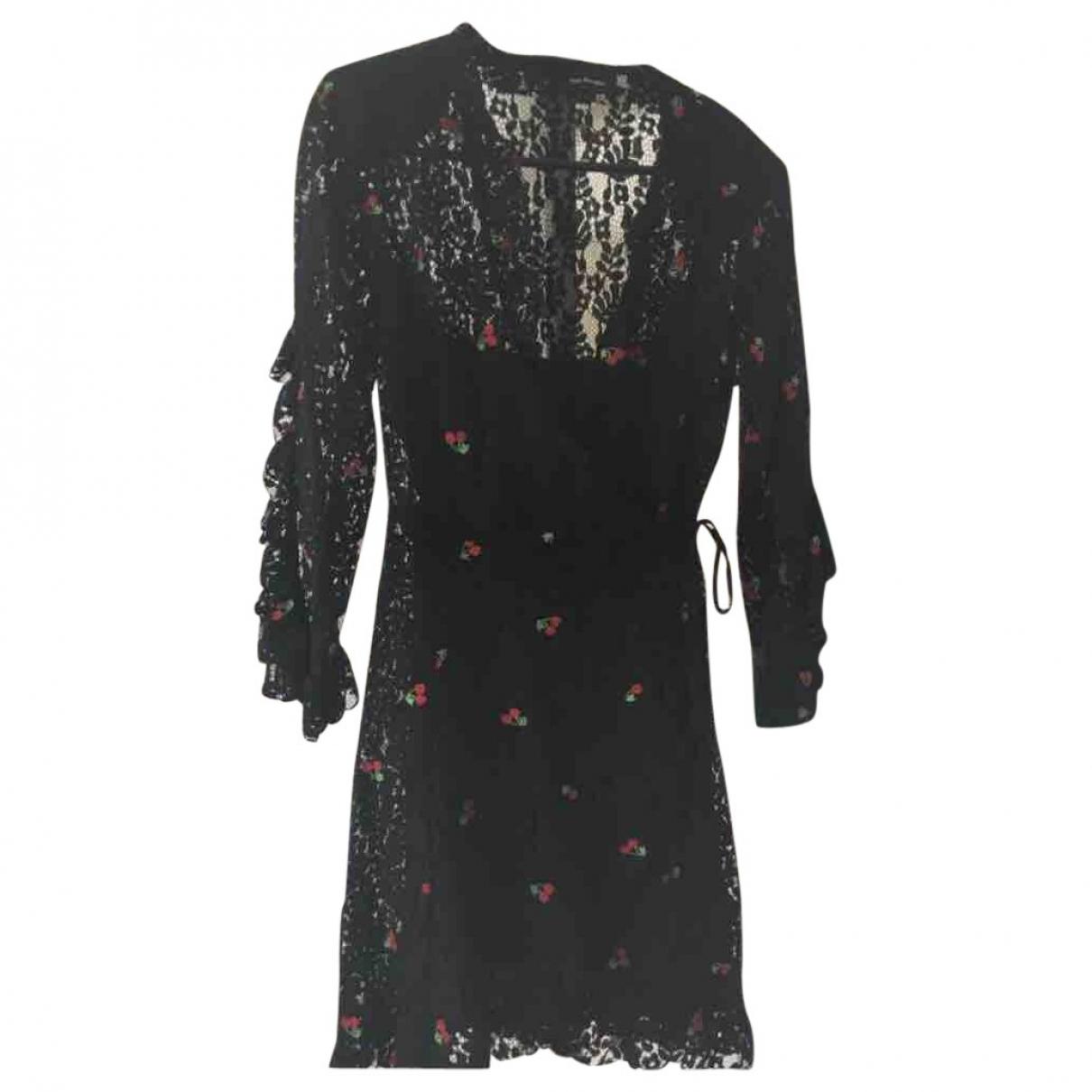 The Kooples - Robe   pour femme en dentelle - noir