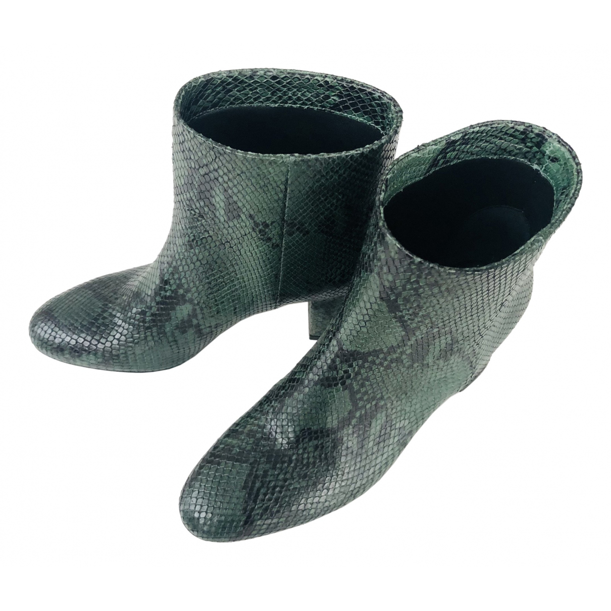 Twin Set \N Stiefeletten in  Gruen Leder