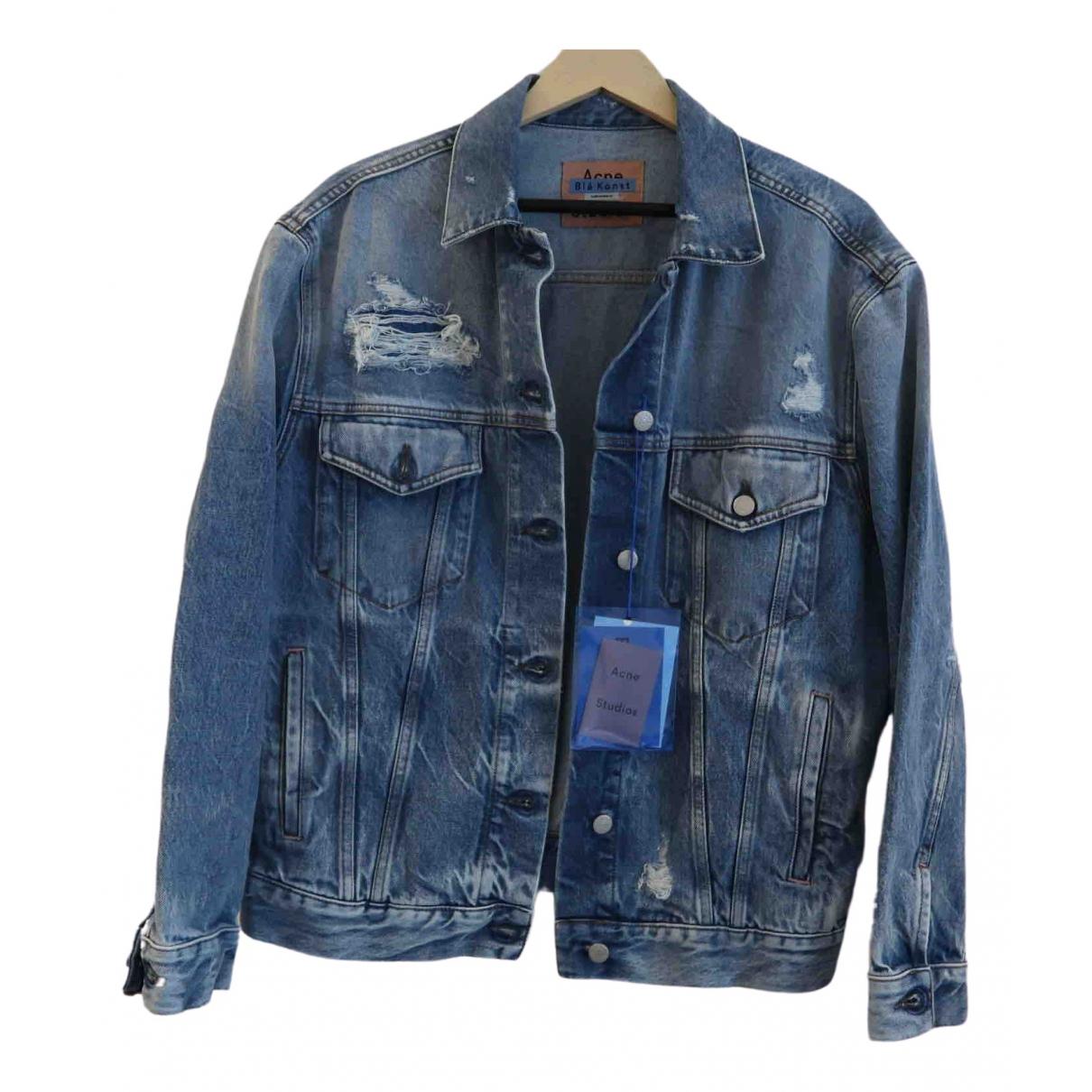 Acne Studios Blå Konst Jacke in  Blau Denim - Jeans