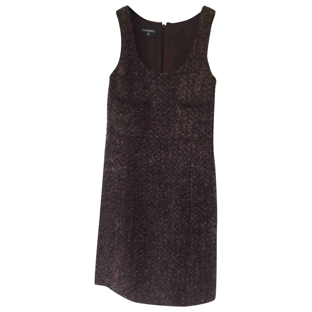 Chanel \N Kleid in  Bordeauxrot Wolle