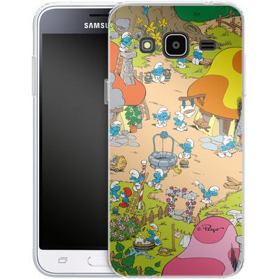Samsung Galaxy J3 (2016) Silikon Handyhuelle - Smurf Village von The Smurfs