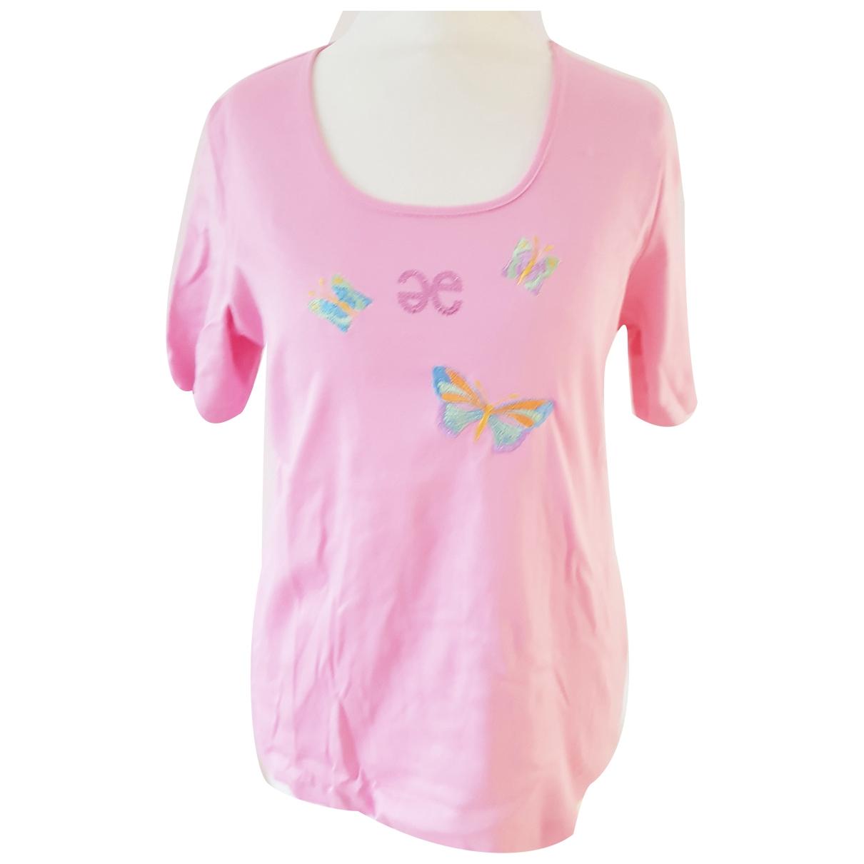 Elegance Paris - Top   pour femme en coton - rose