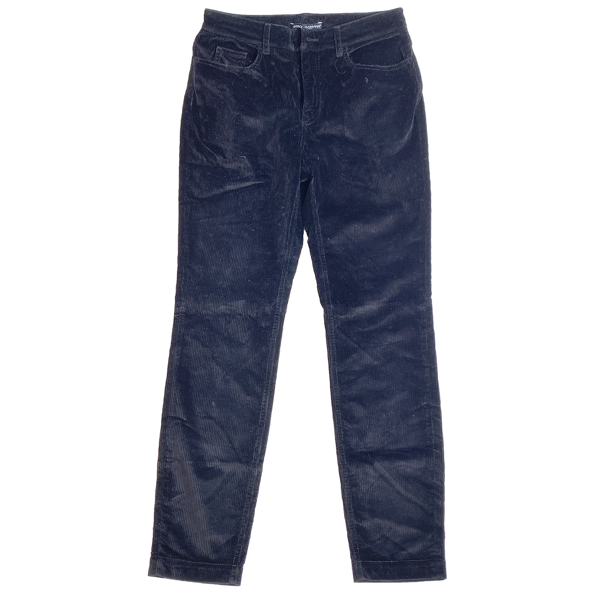 Dolce & Gabbana \N Black Cotton Trousers for Women 42 IT