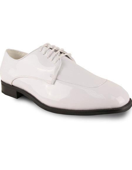 Mens Oxford Formal Tuxedo White Wedding Lace Up Dress Shoe