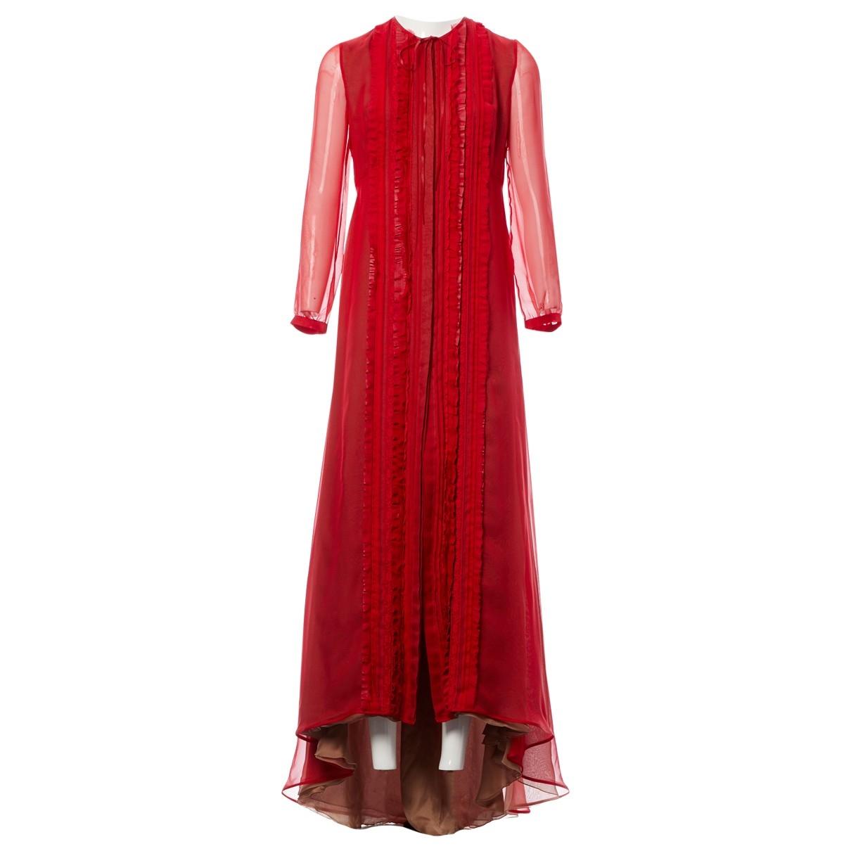 Valentino Garavani \N Red Silk dress for Women 8 UK