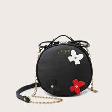 Tasche mit Blumen Dekor