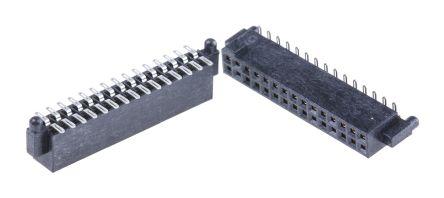 Samtec , SFM 1.27mm Pitch 30 Way 2 Row Straight PCB Socket, Surface Mount, Solder Termination (5)