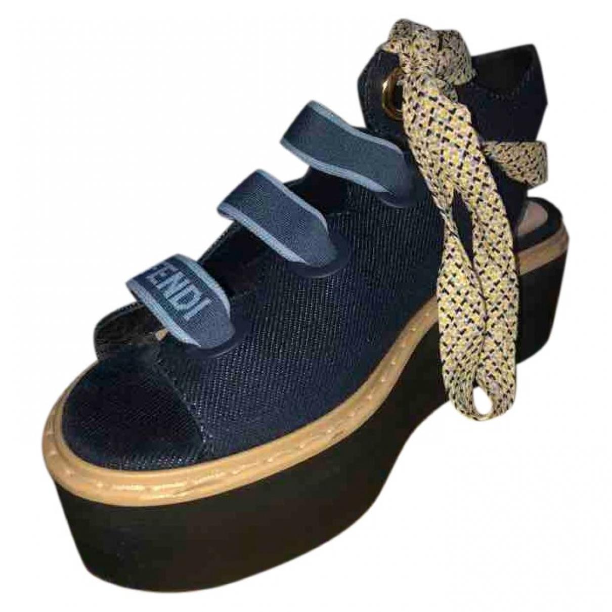 Fendi \N Blue Cloth Sandals for Women 38.5 EU