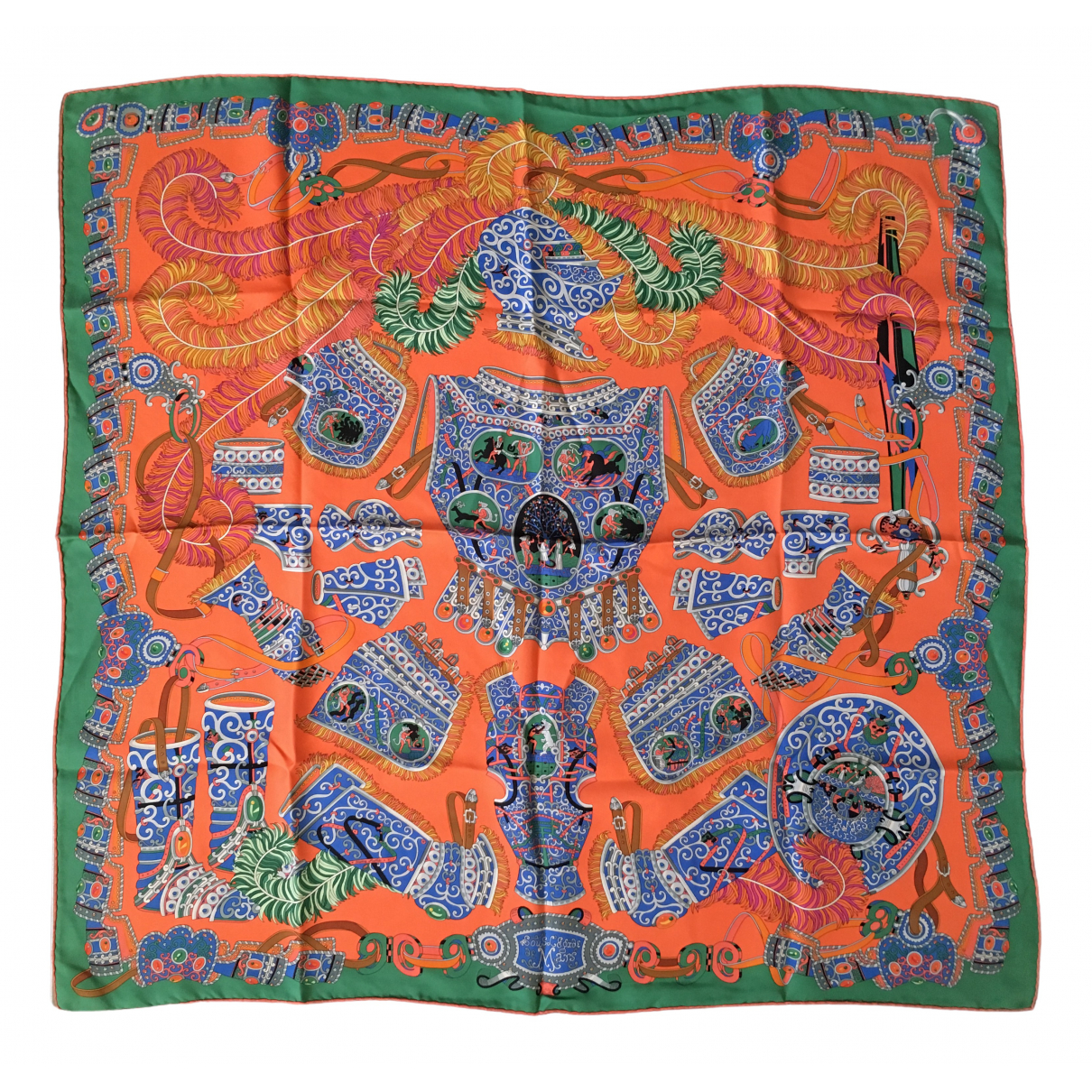 Hermès Carré 90 Orange Silk Silk handkerchief for Women \N