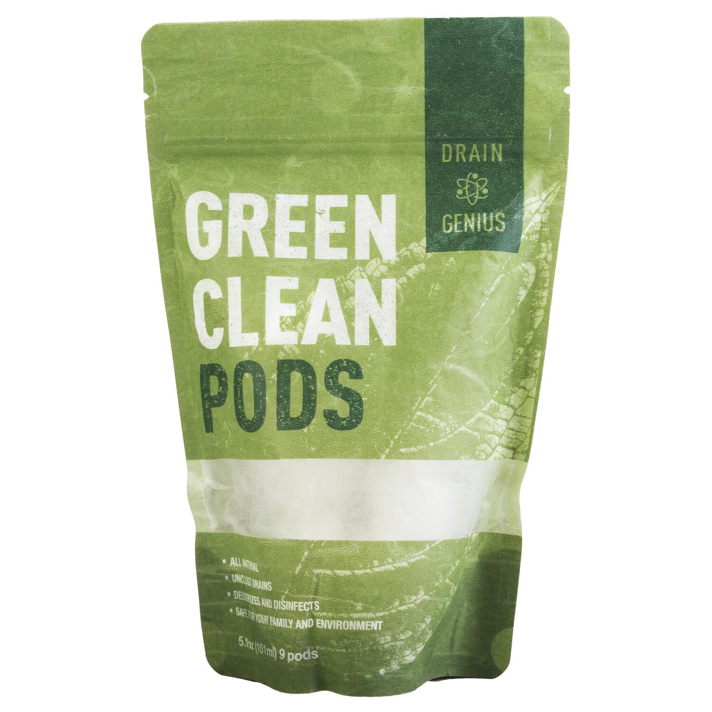 Drain Genius Green Clean Pods Clear Drains Fast Chemical-Free - 5 oz - White
