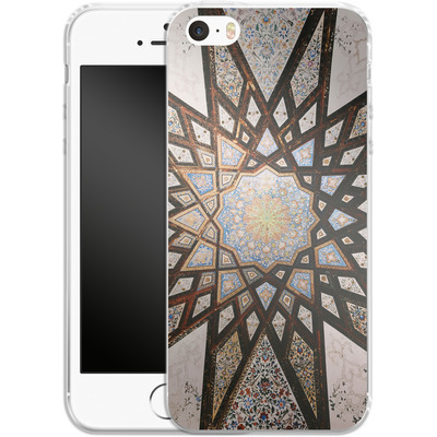 Apple iPhone 5s Silikon Handyhuelle - Tile Star von Omid Scheybani