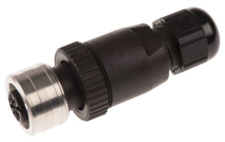 Brad Connector, 4 contacts Cable Mount M12 Socket IP69
