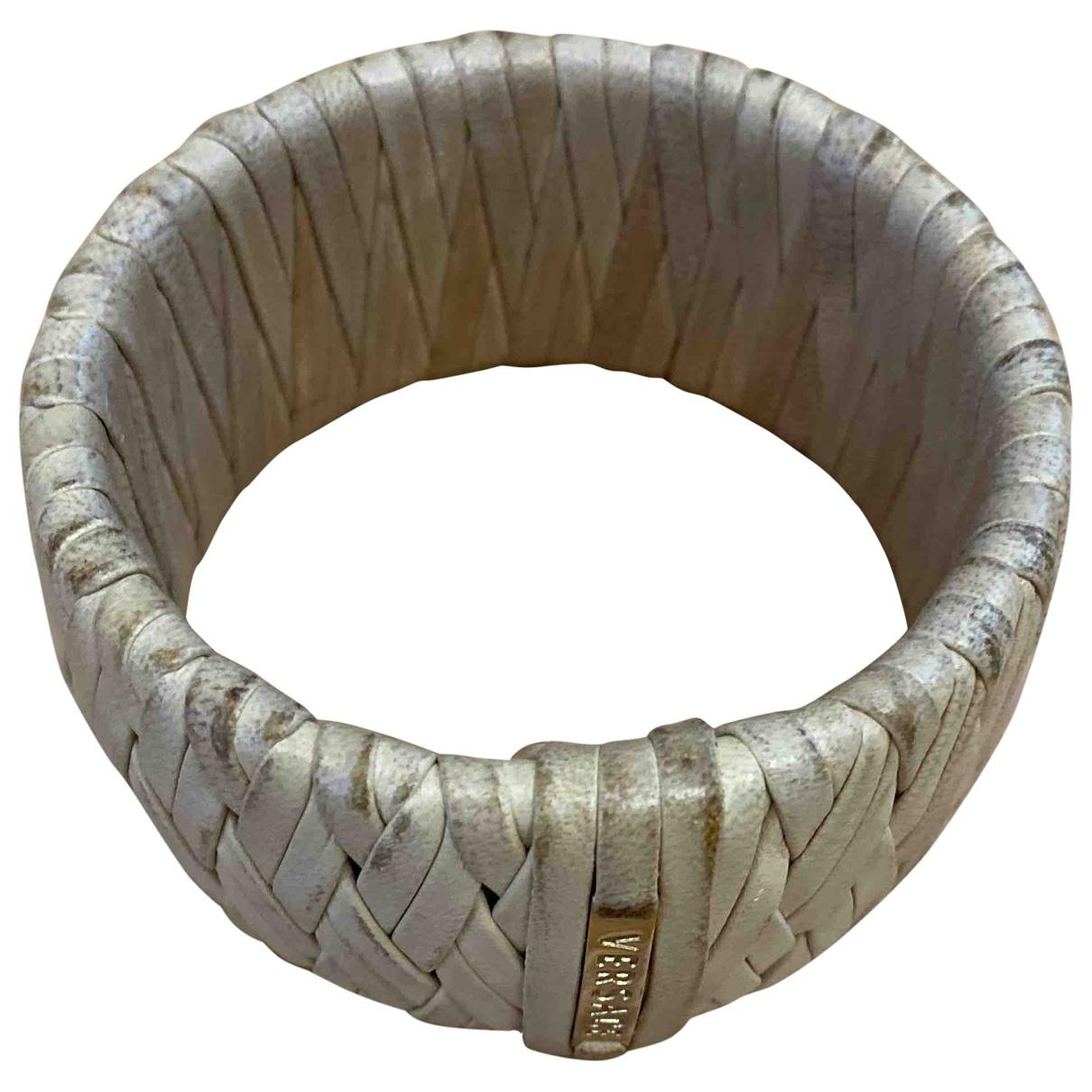 Versace \N Armband in  Beige Leder