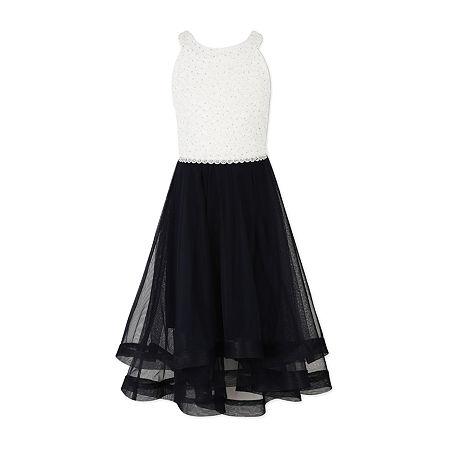 Speechless Big Girls Sleeveless Party Dress, 14.5 Plus , Black