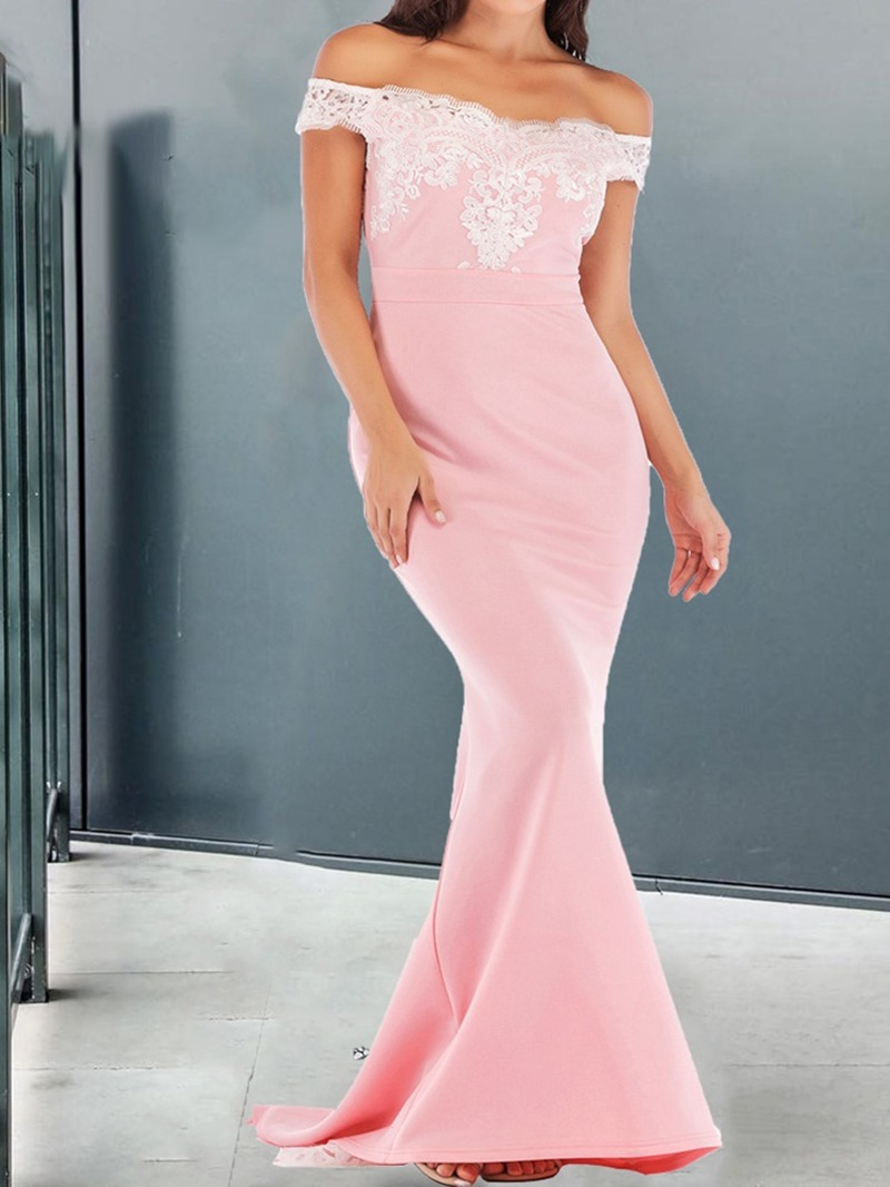Ericdress Floor-Length Short Sleeve Women's Pullover Dress