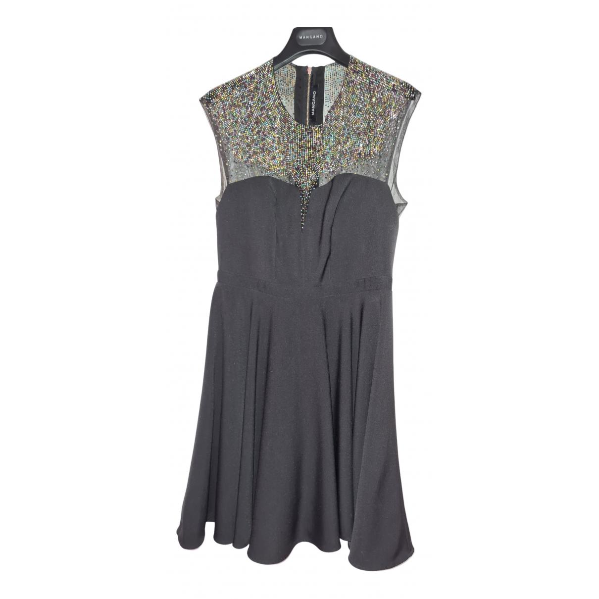 Mangano \N Kleid in  Schwarz Polyester