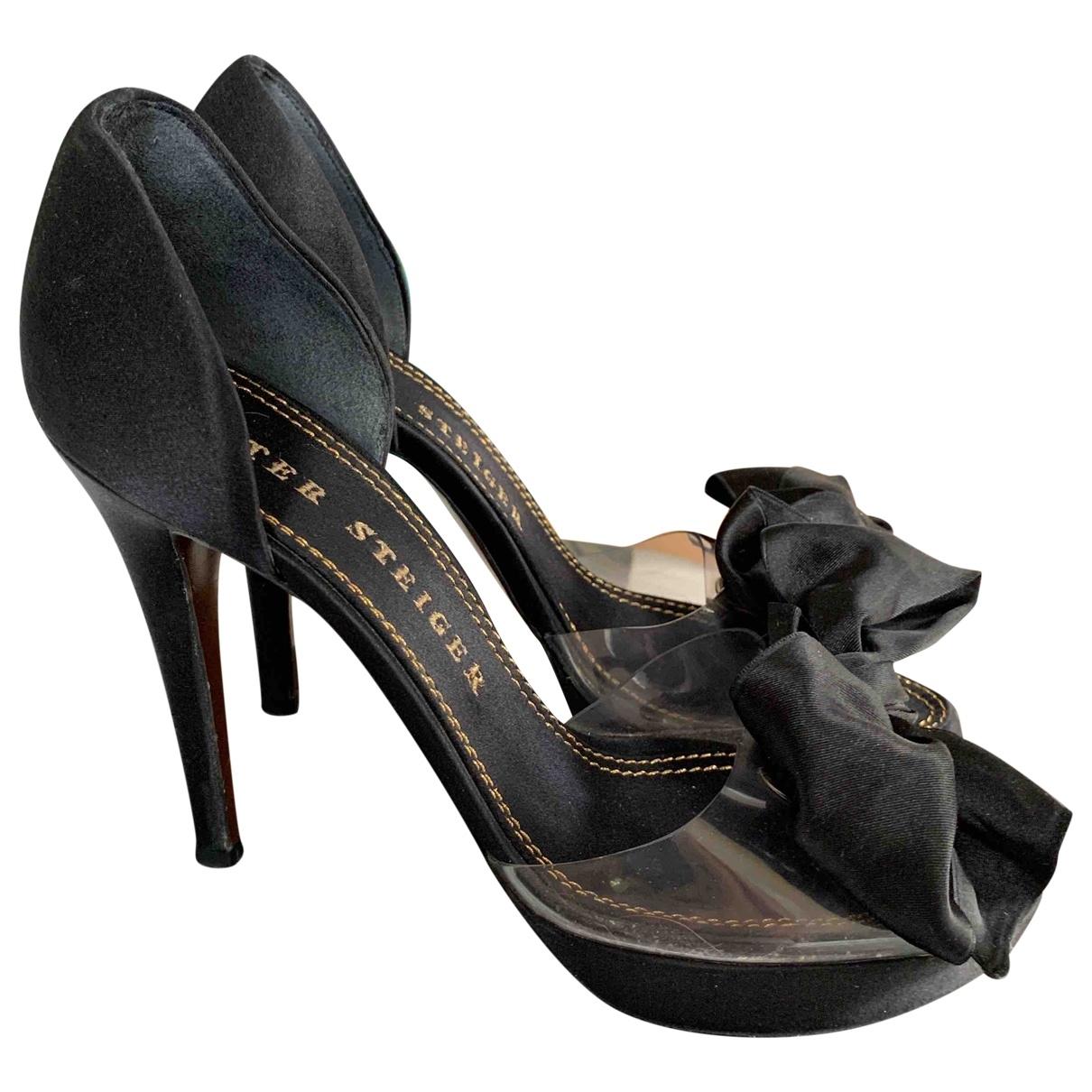 Walter Steiger \N Black Cloth Sandals for Women 39 EU