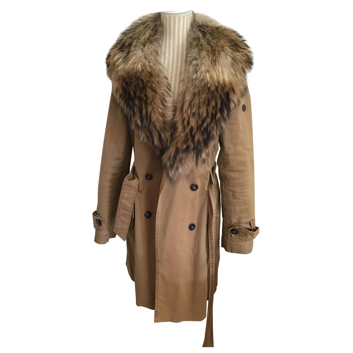 Blonde No.8 - Manteau   pour femme en coton - beige