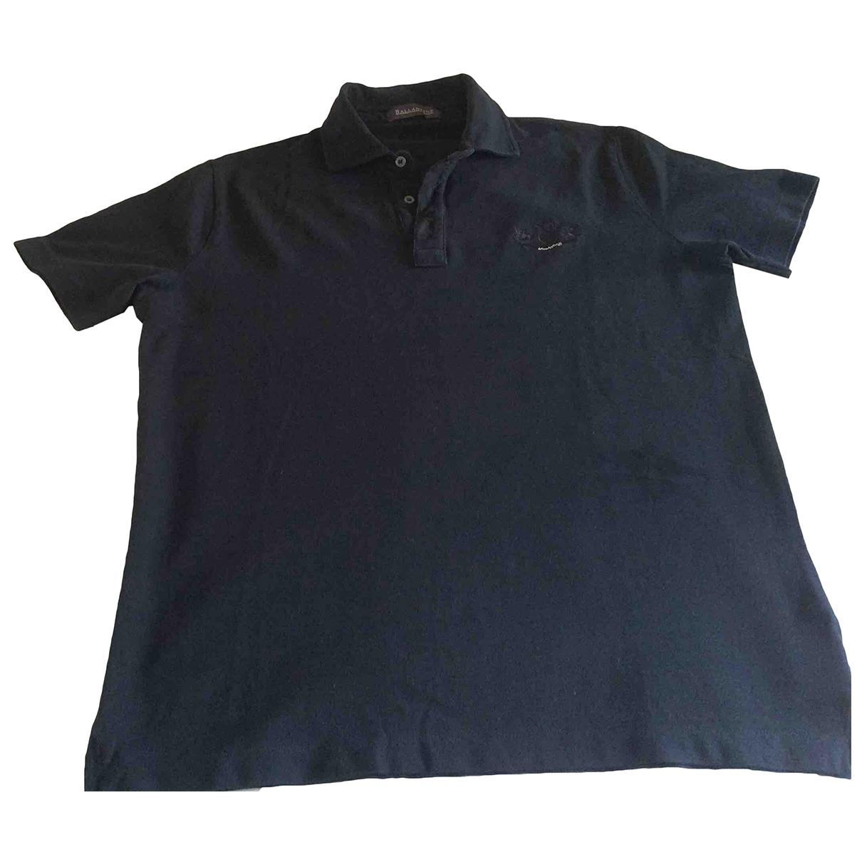 Ballantyne - Polos   pour homme en coton - noir