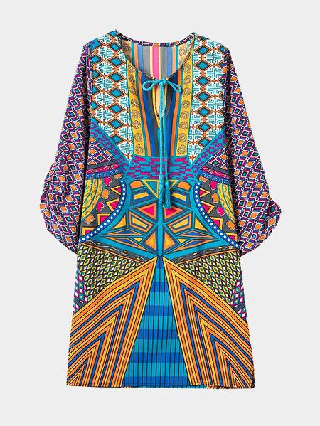 Yoins Self Tie Floral T-shirt Mini Dress