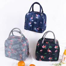 1 Stueck Lunch Box Isolierbeutel mit Flamingo Muster