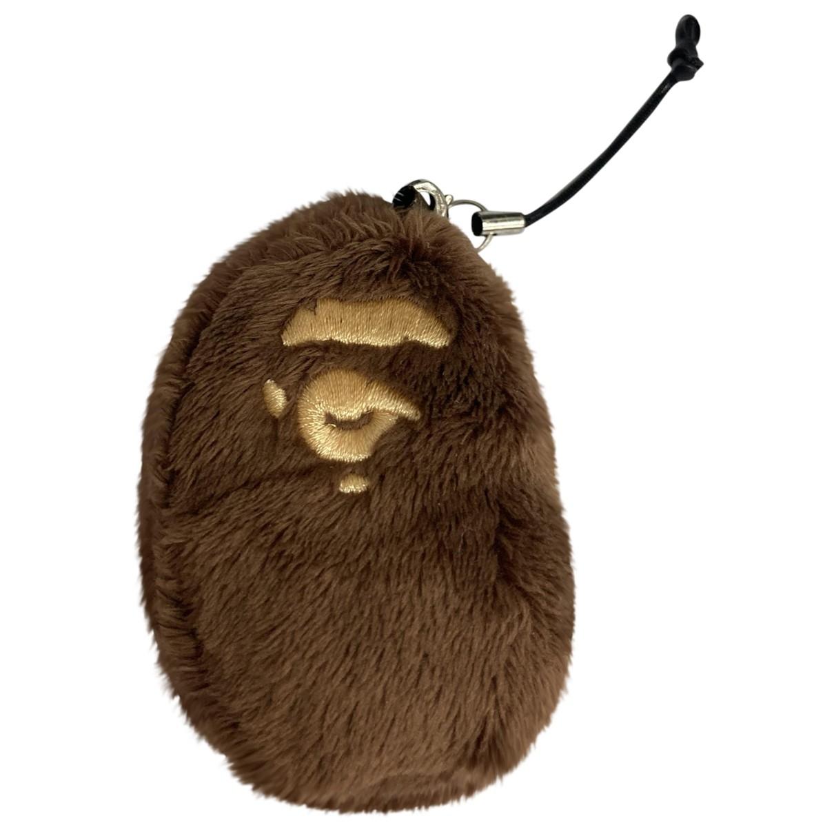 A Bathing Ape - Bijoux de sac   pour femme en toile - marron