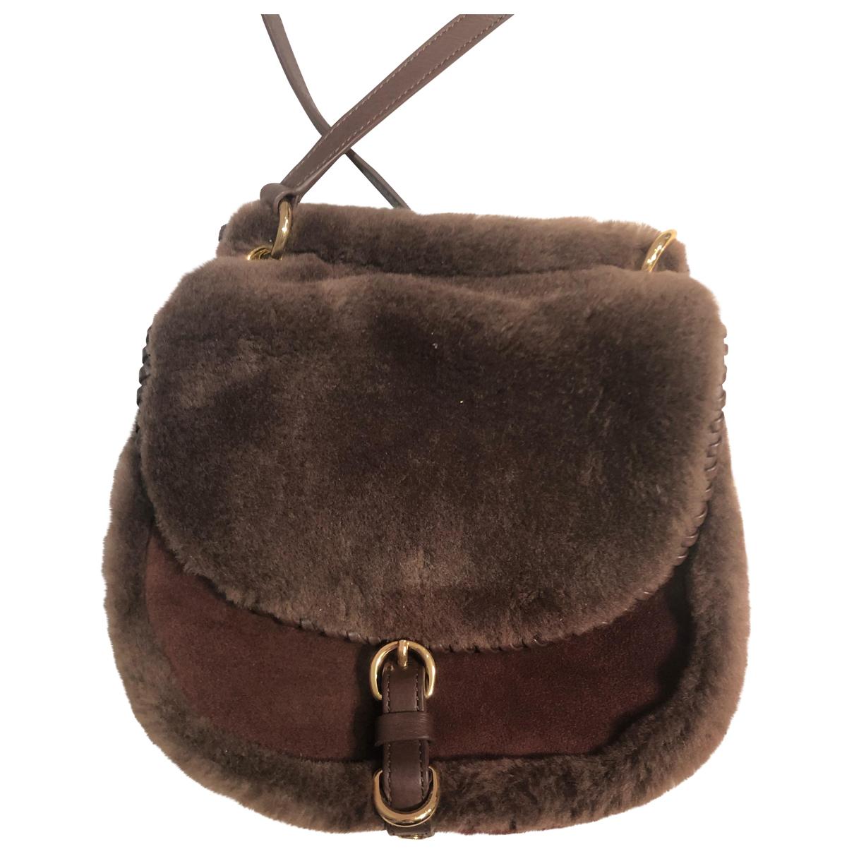 Ugg \N Handtasche in  Braun Leder