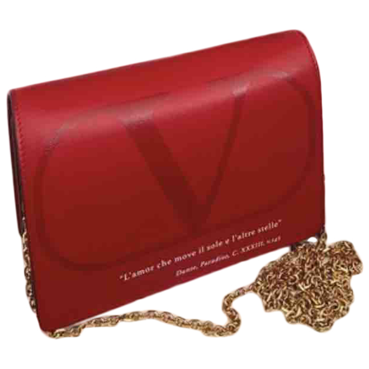 Valentino Garavani \N Clutch in  Rot Leder